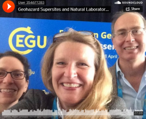 photos with Vicky Luckas,Bente Lilja Bye (NextGEOSS) and Stefano Salvi (GSNL SAC Chair)